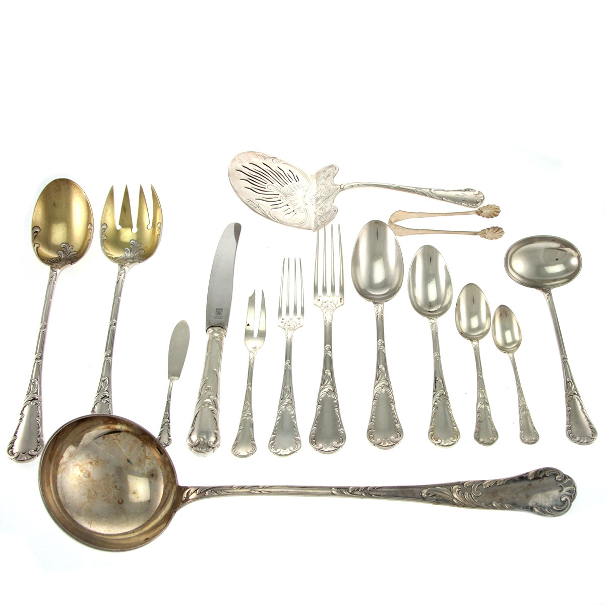 christofle 83pcs silver plated flatware cutlery set paris. Black Bedroom Furniture Sets. Home Design Ideas